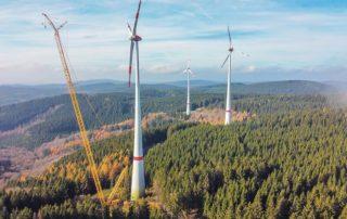 Reparaturarbeiten im Windpark